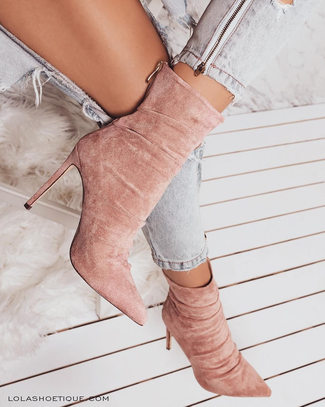 """a85d7782eaf Lola Shoetique ( lolashoetique) on Instagram  """"We are crushing on our  latest blush booties!🤗😻🙌 🔥Style Name - PURE LOVE"""""""