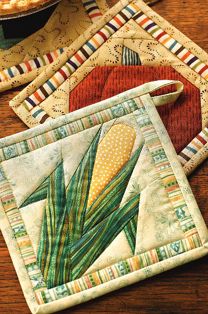 Stitch Up Some Veggies For Your Kitchen Quilted Potholder