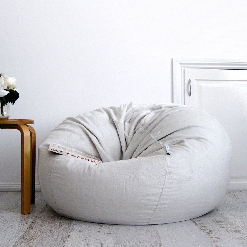 bf159dc2a4 Fur Bean Bag - Silver Grey Pierre
