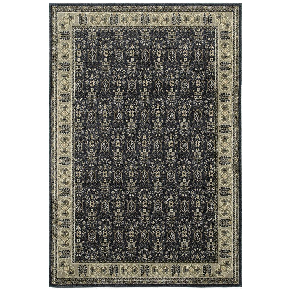 Home Decorators Collection Gianna Indigo 10 Ft X 13 Ft Border