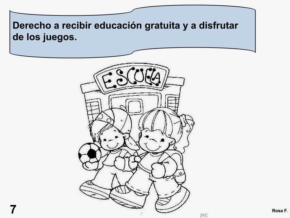 Maestra De Primaria Los Derechos Del Nino Carteles Para Colorear 20 De Derechos De Los Ninos Imagenes De Los Derechos Educacion Gratuita