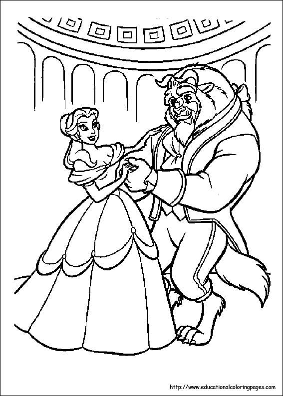 Beauty And The Beast Dance Coloring Pages Belle Coloring Pages Disney Princess Coloring Pages