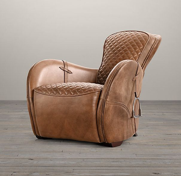 Equestrian Decor Featuring Restoration Hardware And One King S Lane Saddle Chair Equestrian Decor Chair