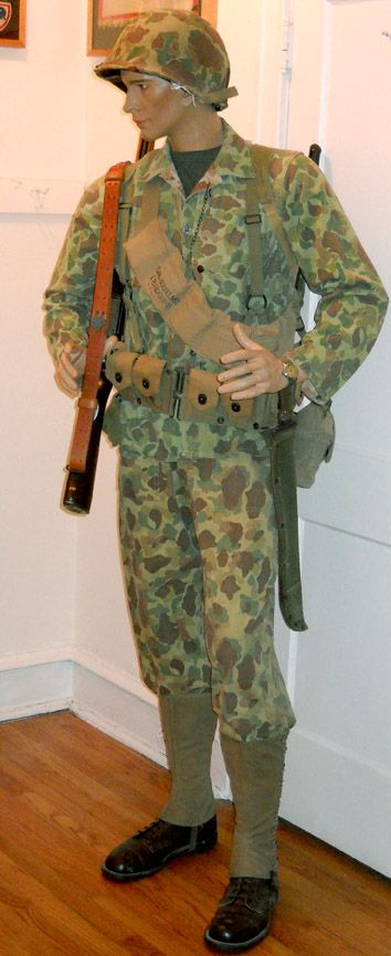 This is my mannequin displaying my WWII Marine Camo ...