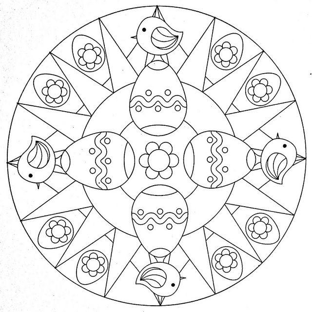 Mandala Coloring Page - Eastern | Ostern, Mandala ostern und Frühling