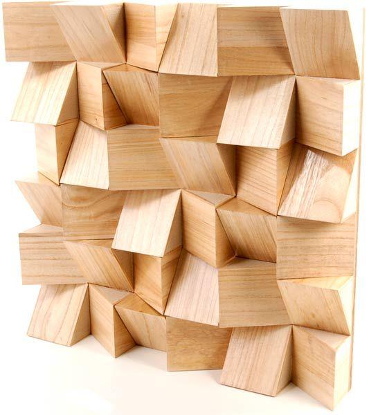 Wood block diy wall art idea inspirational pinterest