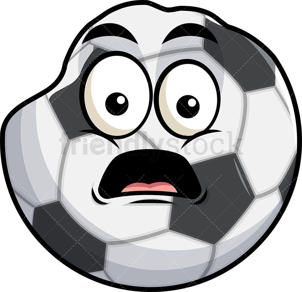 Deflated Soccer Ball Emoji Cartoon Clipart Vector Friendlystock In 2020 Soccer Ball Soccer Soccer Accessories