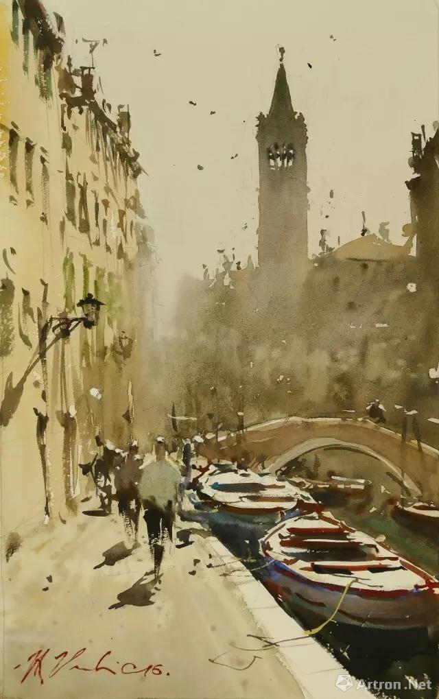 Joseph Zbukvic Venice Watercolor City Watercolor Landscape