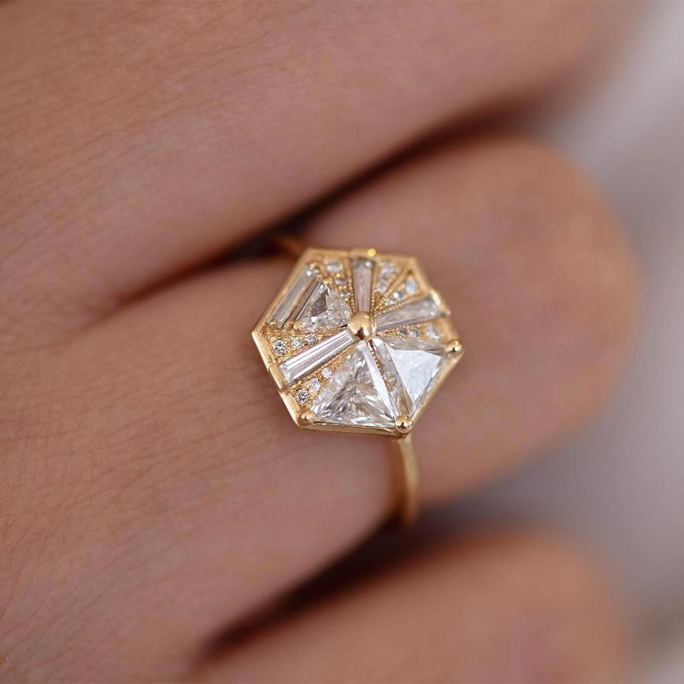 Jewels By Lux 14k White Gold Quatrefoil Hoop Earrings