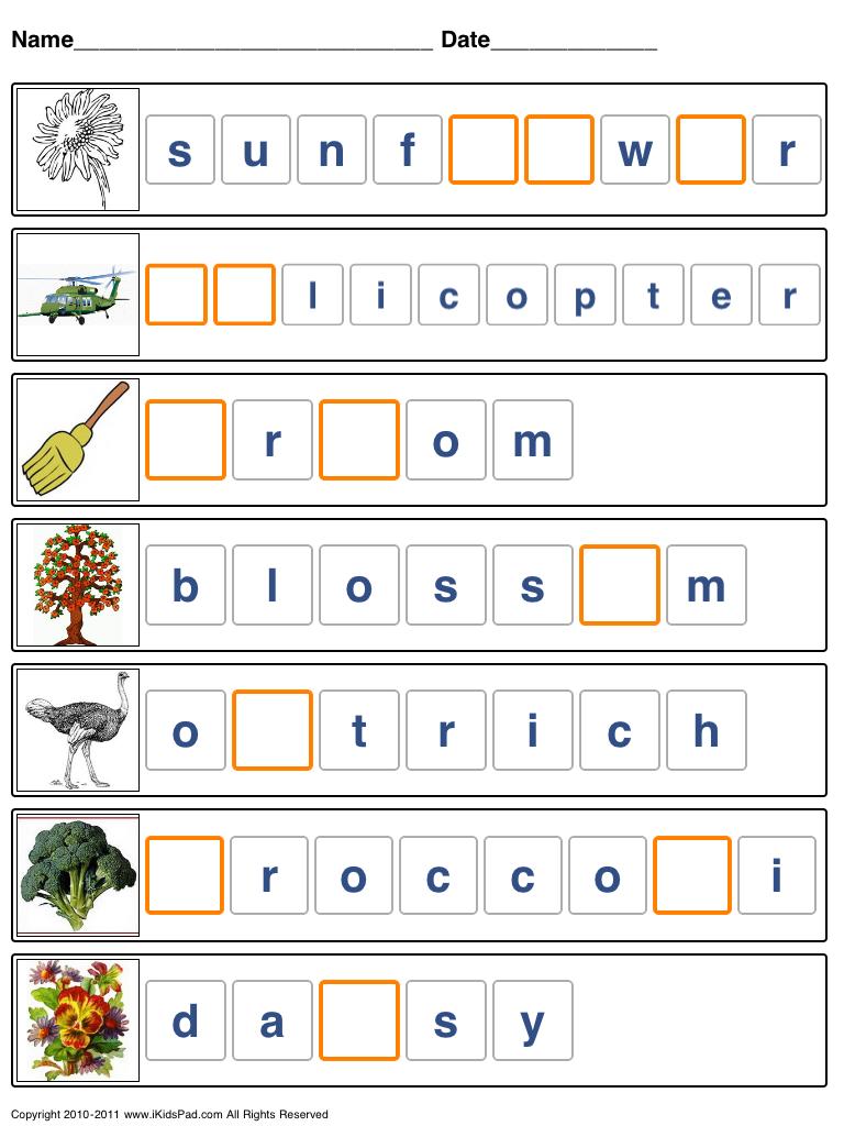 Printable spelling worksheets for kids   Language arts   Pinterest