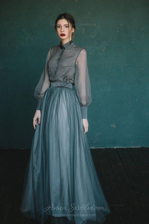 Green wedding dress, colored wedding dress, custom wedding dress ...