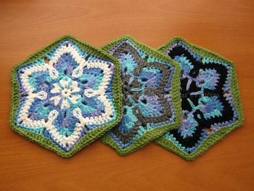 Starflower hexagon free pattern by mnemosynestar reminds me of a crochet granny starflower hexagon free pattern dt1010fo