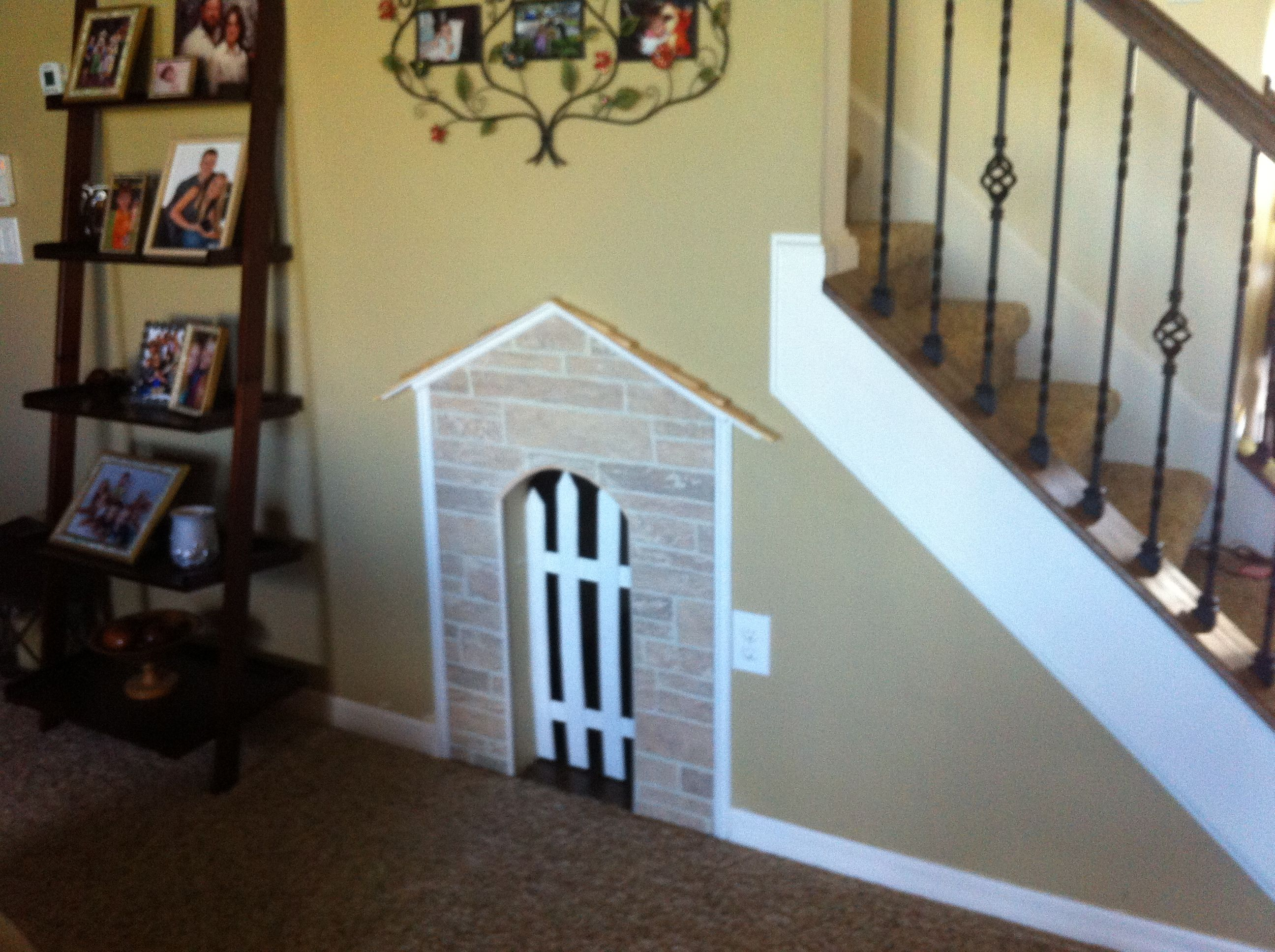 Under The Stairs Dog House Getting This When Our House Is Rebuilt For The  Home Pinterest