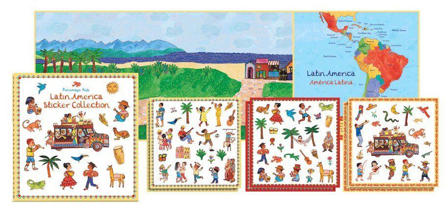 Putumayo Kids Latin America Sticker Collection Gifts Pinterest