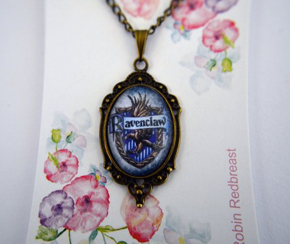 Harry Potter House Crest Ravenclaw necklace by RoryTheFoxHandmade