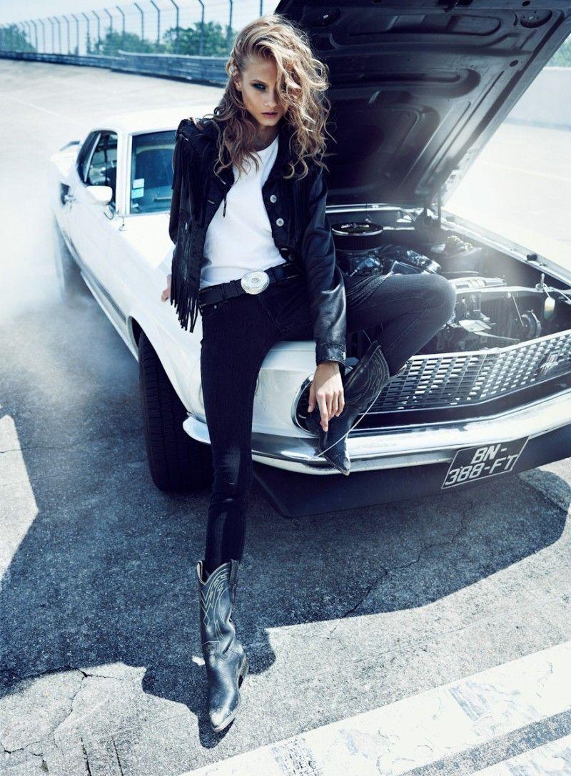 Anna Selezneva Rocks Biker Style for Vogue Paris N
