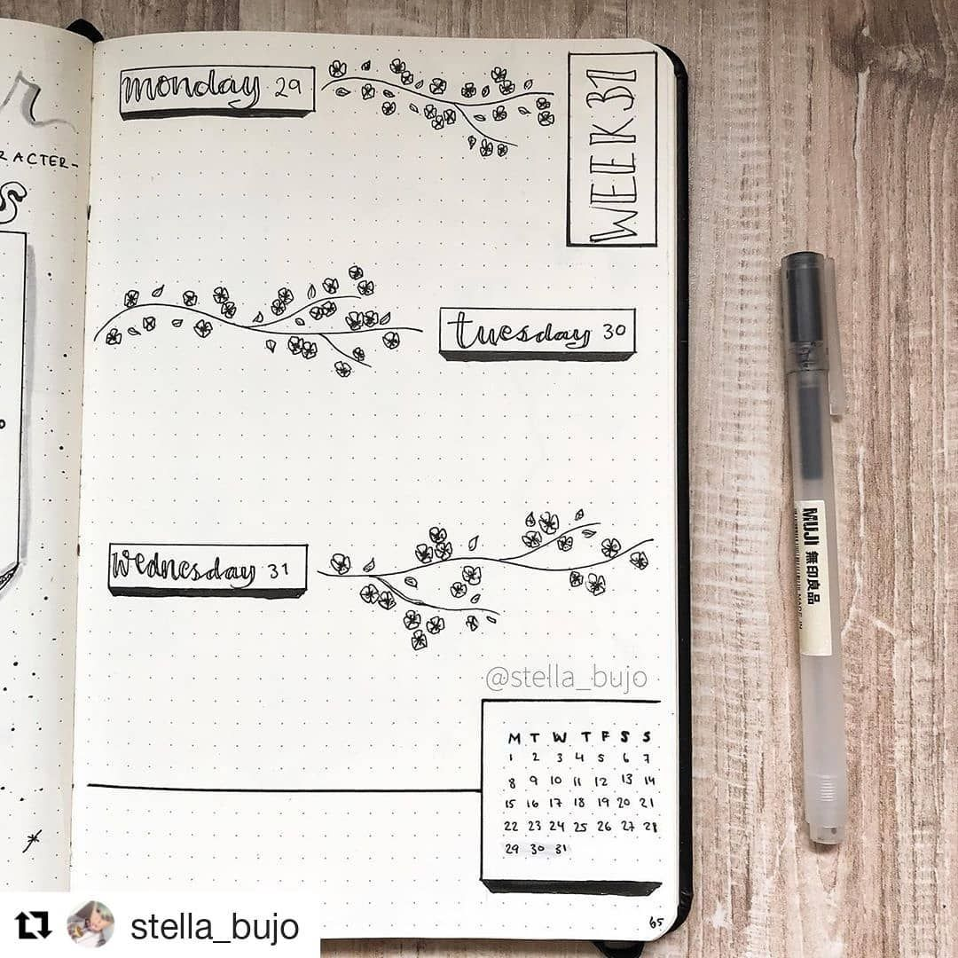 "Inspo.bujo on Instagram: ""#Repost @stella_bujo (@get_repost) ・・・ Last weekly of July! I am sooo excited for August!"