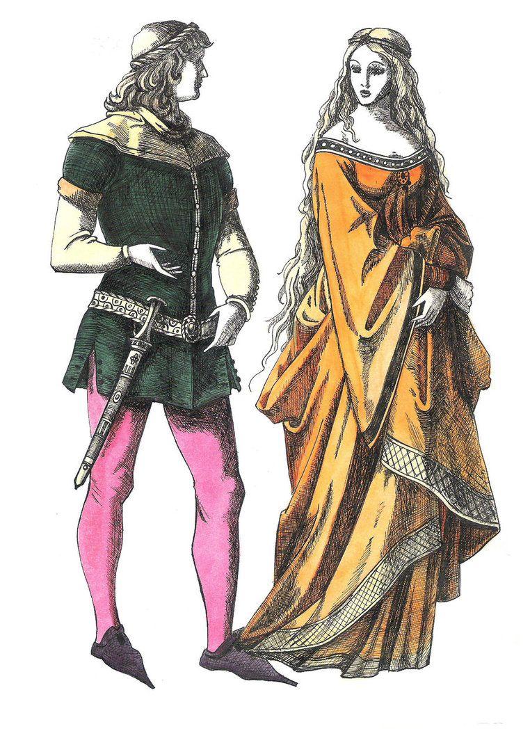 одежда романский период картинки стал
