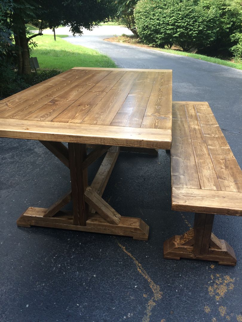 Custom Built Farmhouse Tables For Sale Midlothian VA Richmond VA - Long picnic table for sale
