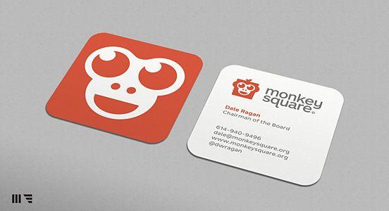 Monkey Square Business Card4 Design Pinterest Business Card