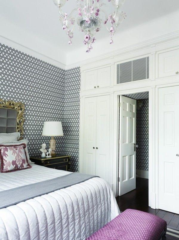 tapetenmuster stilvolles tapetenmuster im schlafzimmer und - tapetenmuster schlafzimmer