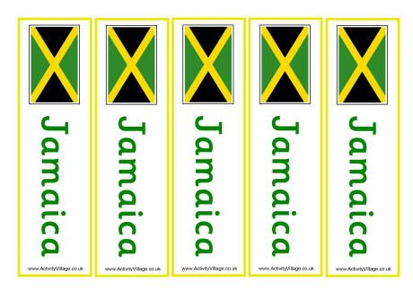Jamaica Flag Printables Jamaica Flag World Thinking Day