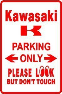 NOVELTY PARKING SIGN KAWASAKI PARKING ONLY