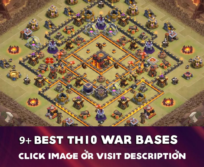 Coc Th10 War Base Base Th 10 2019 6