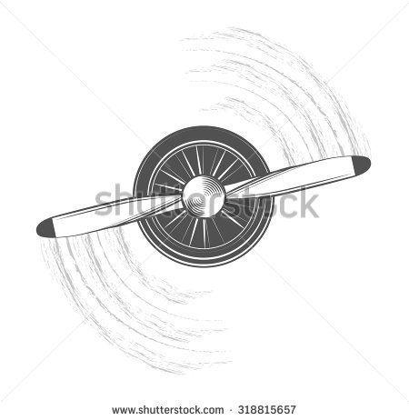Stock Vector Propeller Of Airplane 318815657 Jpg 450 462