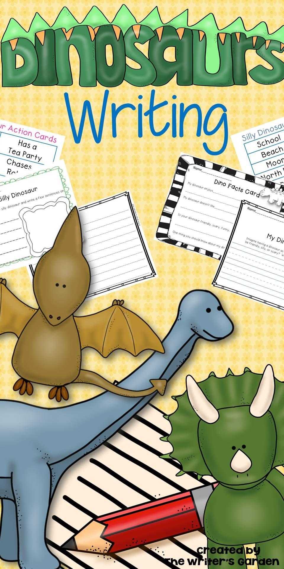 Pin On Dinosaur Activities Dinosaur writing activities kindergarten