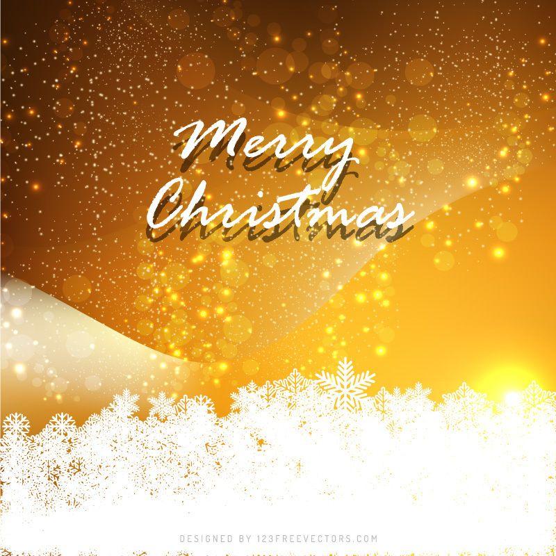 Orange Elegant Christmas Background
