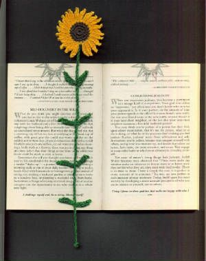 Sunflower Bookmark - free crochet pattern sunflowerbkmarkpic.jpg