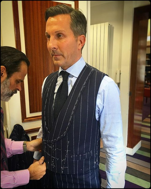 Alexander Kraft - Final fitting for another bespoke suit ...