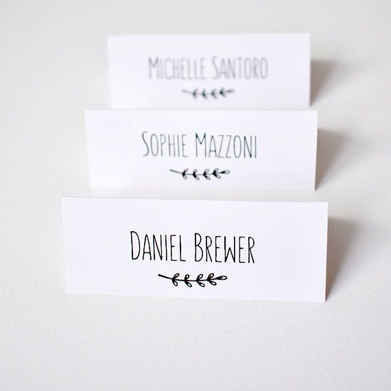 Place Cards For Wedding Personalised Table Name Tags Guest Setting Card