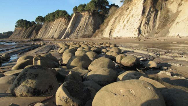 Bowling Ball Beach, Point Arena, Calif - Located just south of Point Arena, Calif., Bowling Ball Beach features prehistoric boulders that have been finely ground down over the millennia into perfectly smooth spherical shapes, many the size of perfect bowling balls. (Credit: Flickr/portmanteaus)