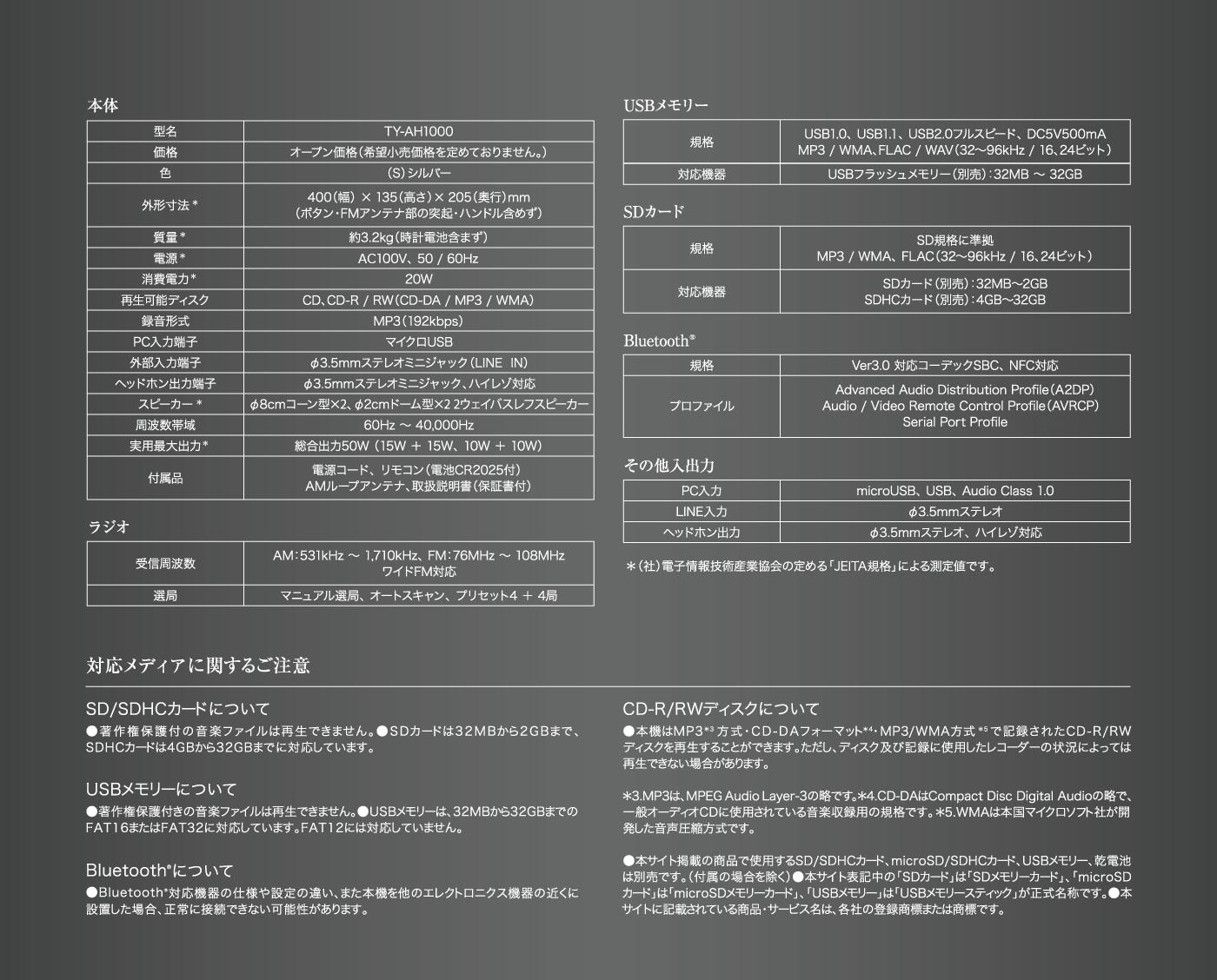 ハイレゾ対応sd Usb Cdラジオ Ty Ah1000 スペシャルサイト 東芝エルイートレーディング株式会社 ハイレゾ ラジオ 対応