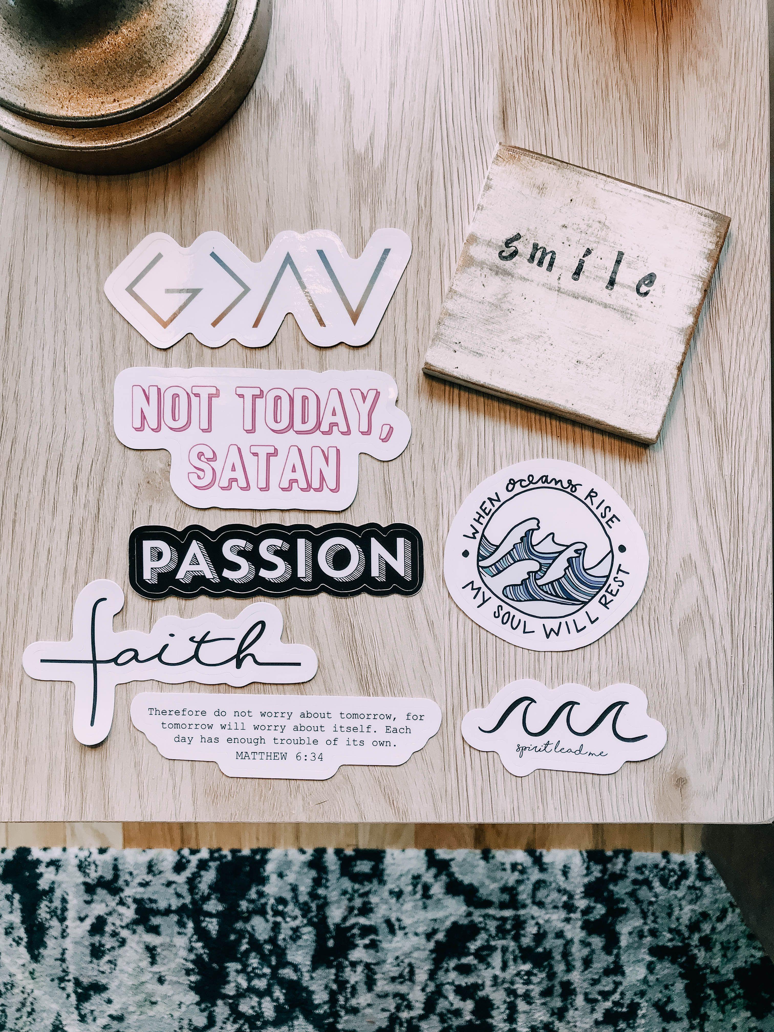 Let Go And Let God Vinyl Sticker for Laptops Windows and Water Bottles