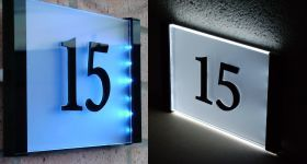 Led Lit House Number Sign By Plastic Republic House Numbers