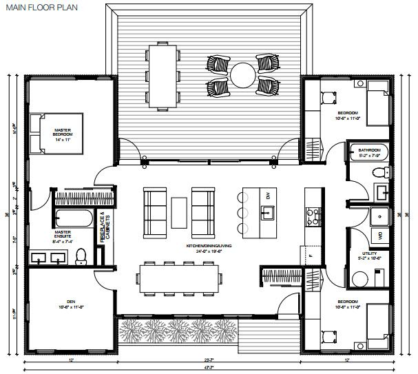 Modern prefabricated home plans