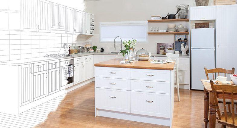 kaboodle flat pack kitchen plan your kitchen image kitchen gallery kitchen kitchen benchtops on kaboodle antique white kitchen id=14351