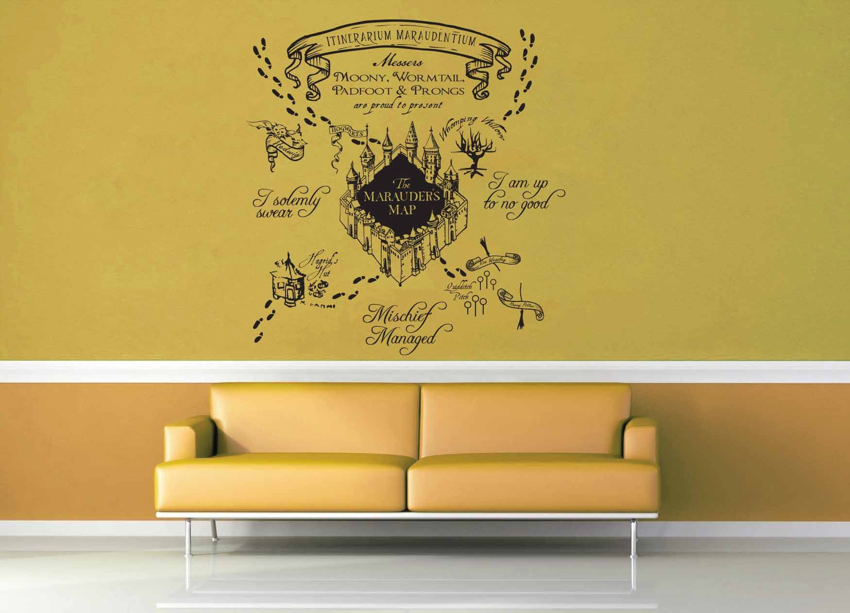Marauder\'s Map - Harry Potter - Wall Decal | Harry potter, Harry ...