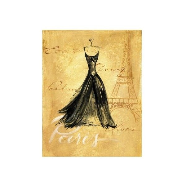 Paris Fashion Wall Art Print ($7.99) ❤ liked on Polyvore featuring ...