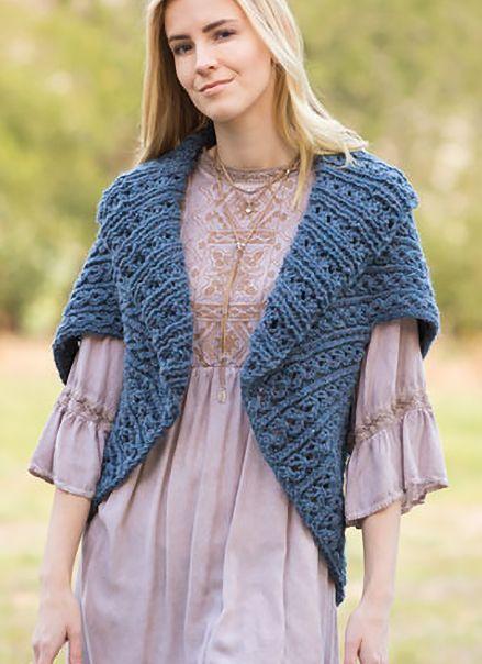 Knitting Pattern For Easy Royal Rib Sweater Wrap The Elegant Shawl