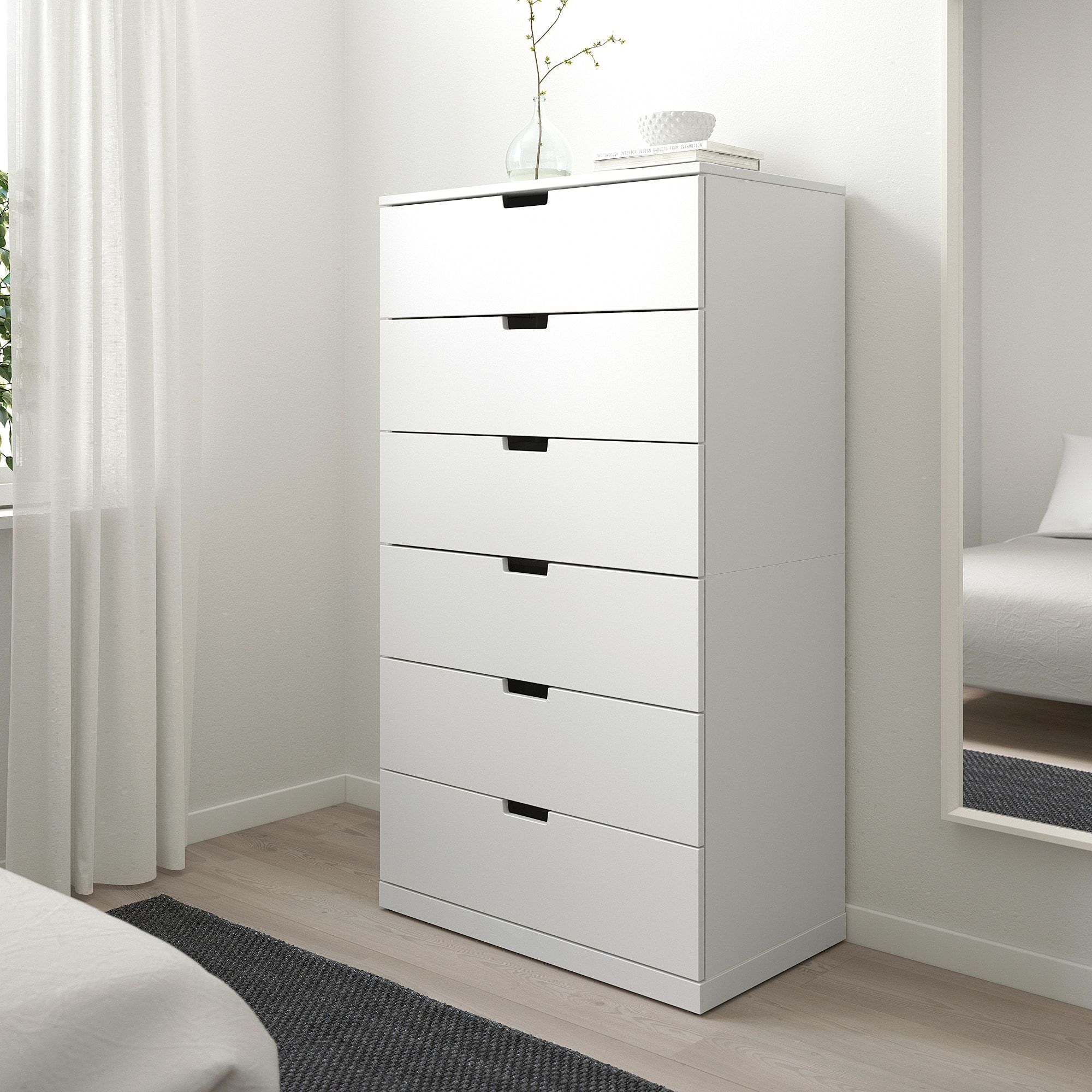 Nordli White Chest Of 6 Drawers 80x145 Cm Ikea In 2020 Ikea Nordli 6 Drawer Chest Chest Of Drawers [ 2000 x 2000 Pixel ]