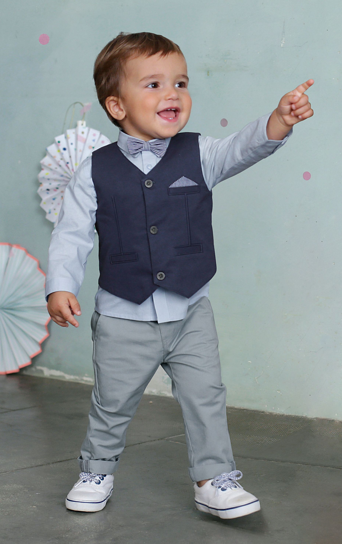 Conjunto chaqueta de punto + camisa + pajarita + pantalón | Baby Boy ...