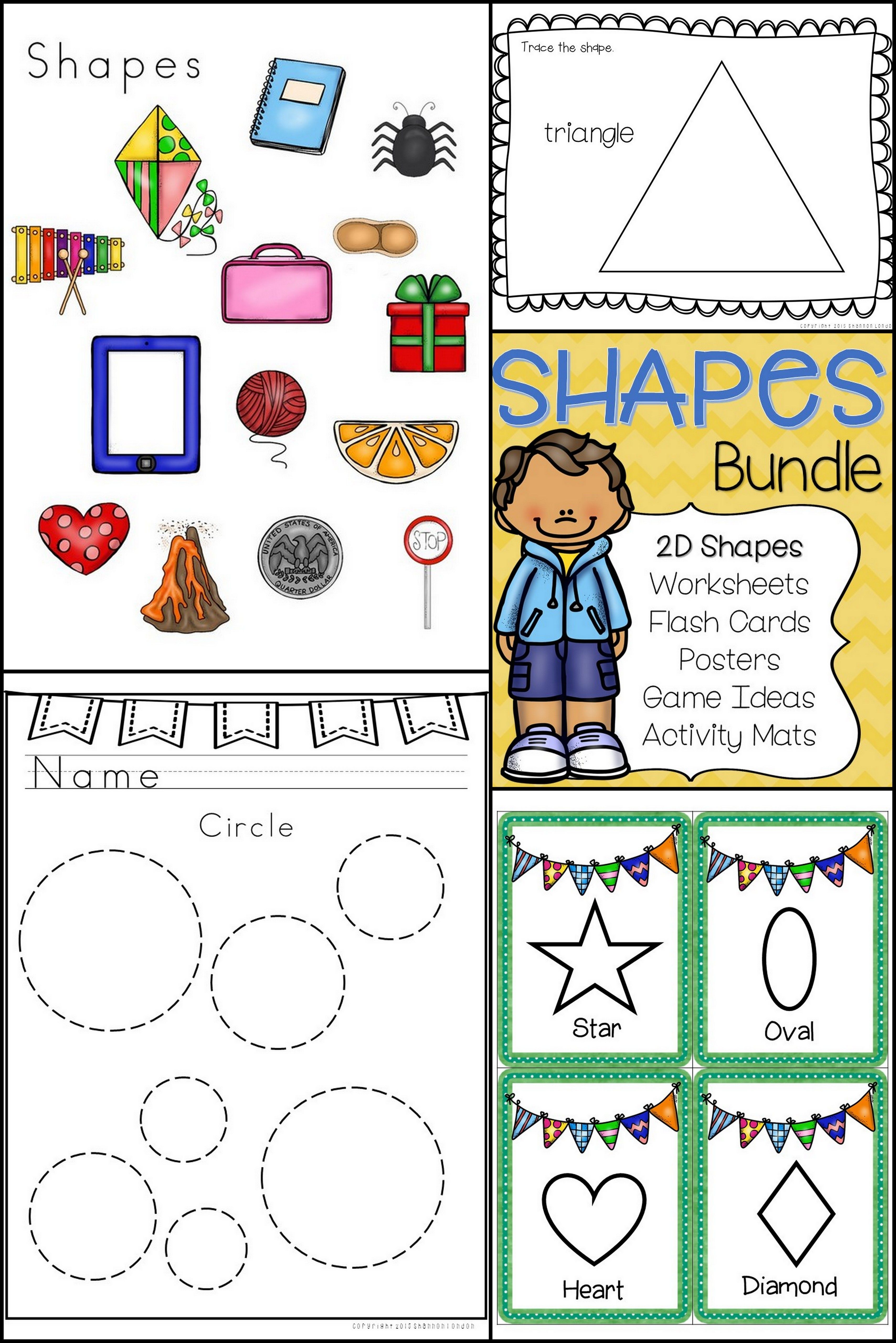Shapes Bundle 2d Shapes Worksheets And Activities