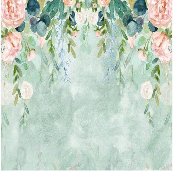 Custom Any Size Murals Wallpaper Modern Watercolor Leaves