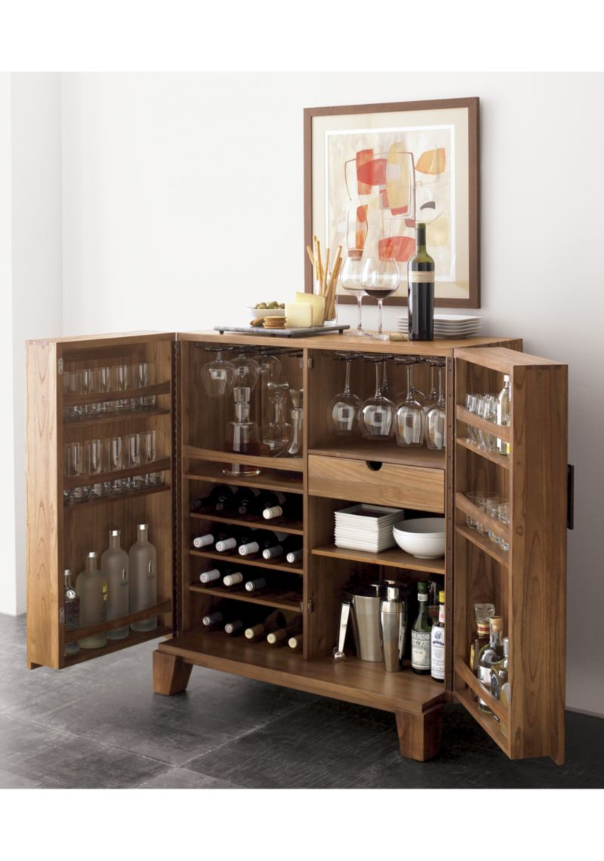 Marin Natural Bar Cabinet Reviews Crate And Barrel Bar Cabinet Bar Furniture Bars For Home