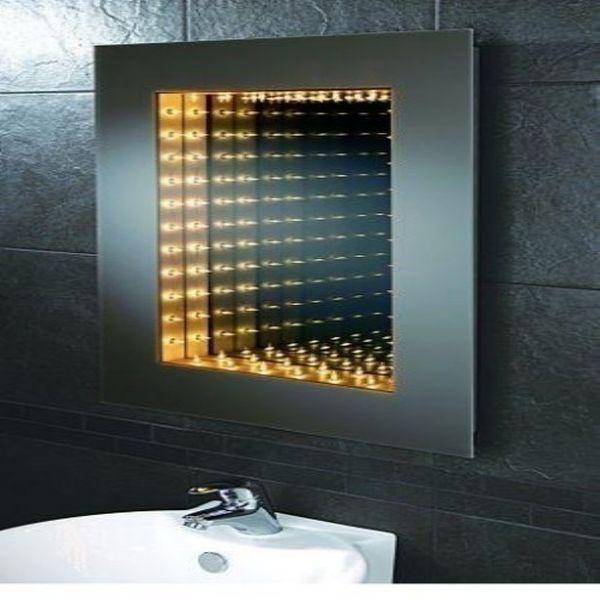 Infinity Mirror Illuminated Mirrors, Bathroom Infinity Mirror