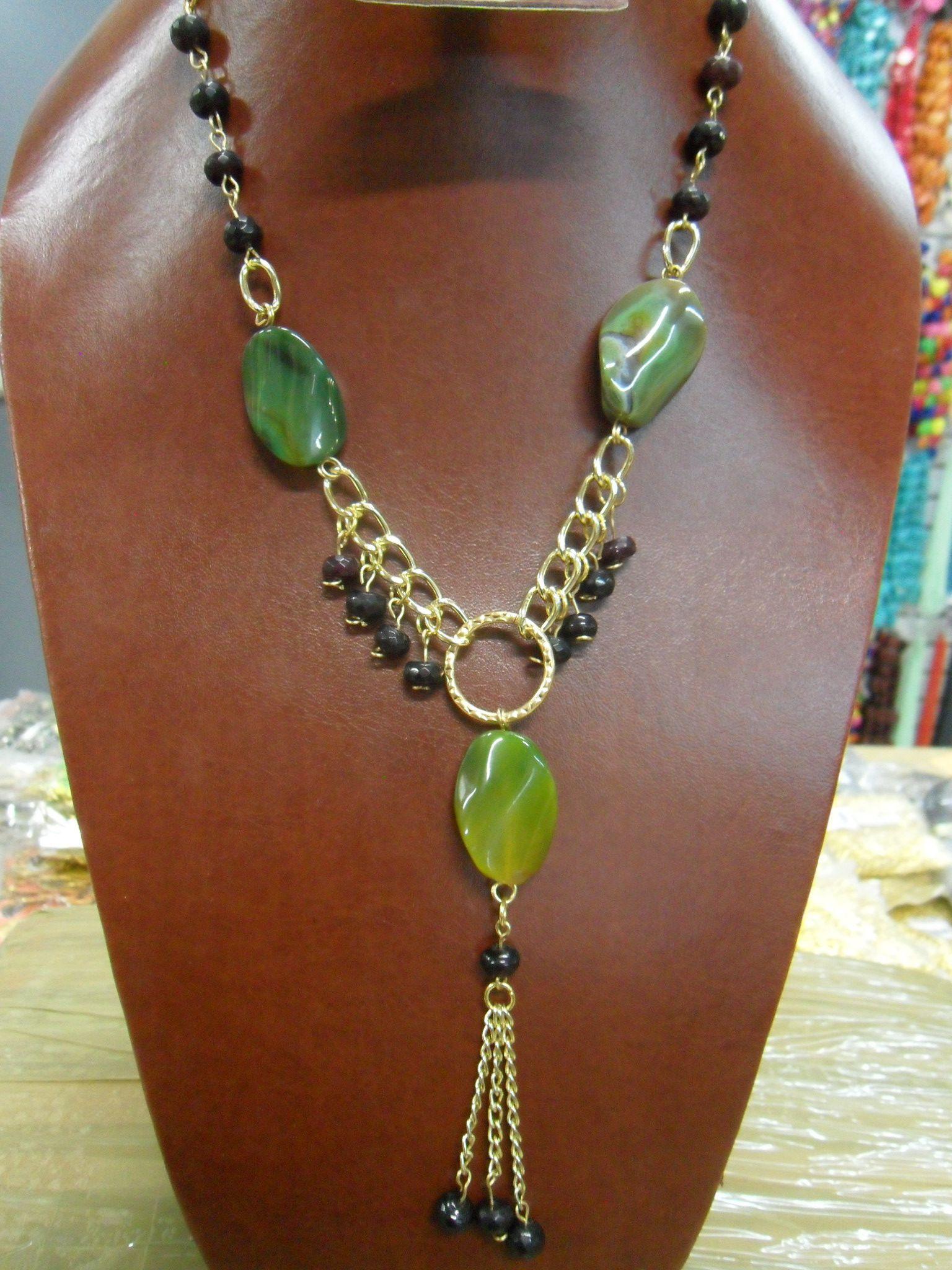 Collar de piedra natural elvibisuteria pinterest - Piedras para collares ...